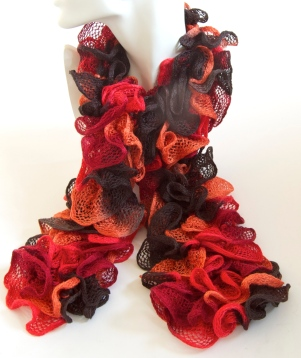 Orange & Black Can Can Scarf