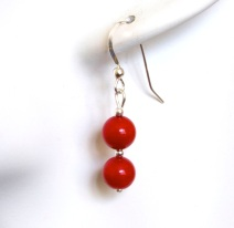 Red Coral Earrings