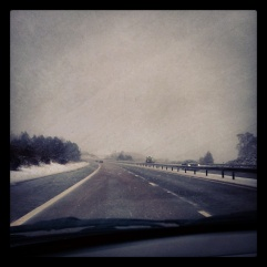 The snow really started to fall just outside of Perth.