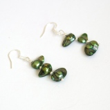 GreenPearlEarrings