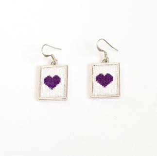 PurpleHeartEarrings